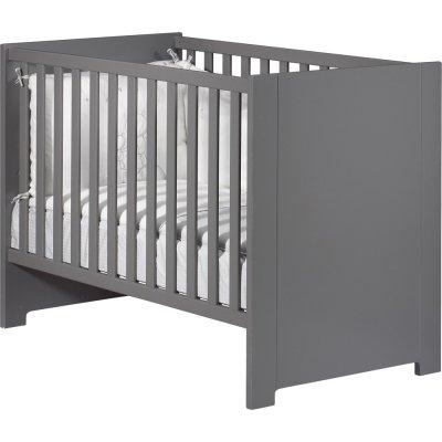 Lit bébé 60x120cm city ardoise Sauthon meubles