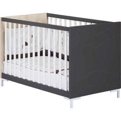 Lit bébé 120x60cm dark grey Sauthon meubles