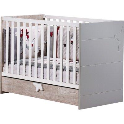 Lit bébé 60x120 non transformable nova Sauthon meubles