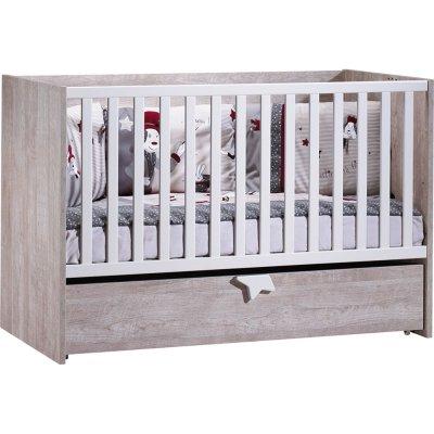 Lit bébé 70x140 évolutif 90x190 et140x190 nova Sauthon meubles