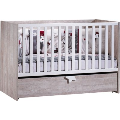 Lit bébé 70x140 évolutif 90x200 et140x200 nova Sauthon meubles