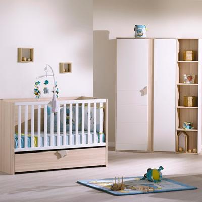 Lit bébé 140x70 évolutif 90x200 et140x200 avec kit transformation inclus norway Sauthon meubles