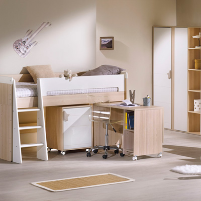 Lit chambre transformable 70x140cm norway Sauthon meubles