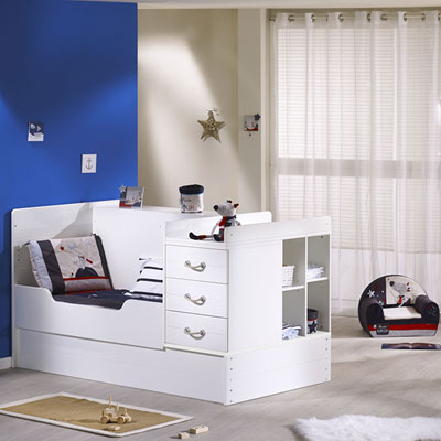 Lit chambre transformable 70x140cm seaside Sauthon meubles