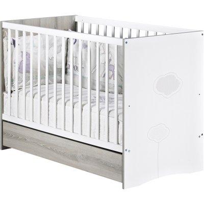 Lit bébé 60x120 non transformable nael Sauthon meubles