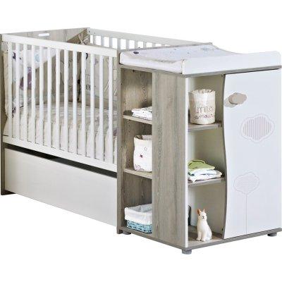 lit chambre transformable 60x120 en lit junior 90x190 nael de sauthon meubles sur allob b. Black Bedroom Furniture Sets. Home Design Ideas