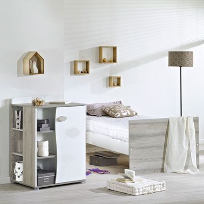 Lit chambre transformable 60x120 en lit junior 90x190 nael Sauthon meubles