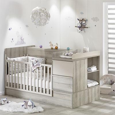 Lit chambre transformable 70x140cm xxl Sauthon meubles