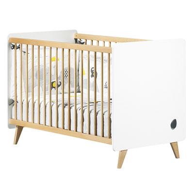 Lit bébé 60x120cm non transformable oslo Sauthon meubles