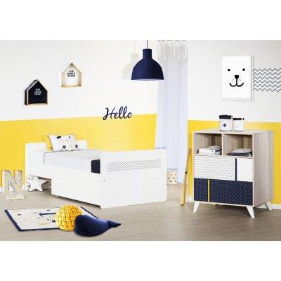 Lit chambre transformable 120x60cm en 190x90cm hello Sauthon meubles