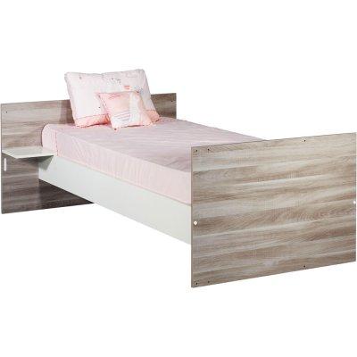 Lit combiné évolutif 120x60cm en 190x90cm vintage silex Sauthon meubles