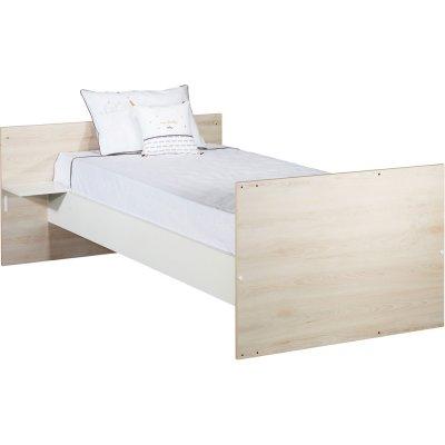 Lit chambre transformable 120x60cm en190x90cm vintage hêtre cendré Sauthon meubles