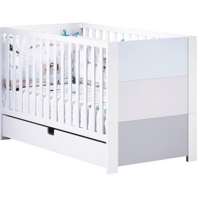 Lit little big bed 70x140cm city bleu Sauthon meubles