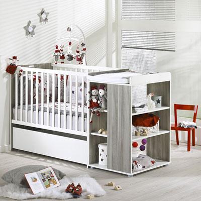 Lit chambre transformable 60x120cm loulou Sauthon meubles