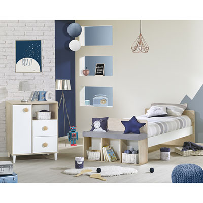 Lit chambre transformable 60x120 en lit junior 90x190 nils Sauthon meubles