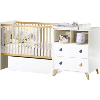 Lit chambre transformable 60x120 en lit junior 90x190 oslo goutte Sauthon meubles