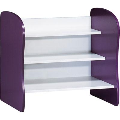 Meuble de rangement évolutif coffre/bibliothèque pop violette Sauthon meubles