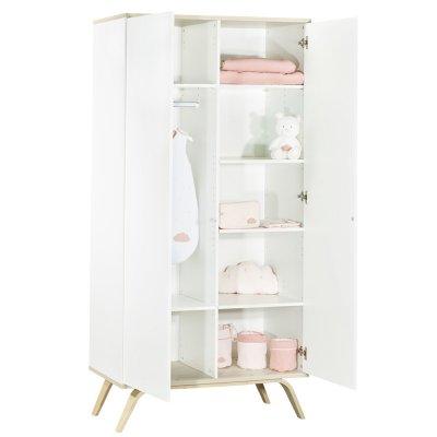Chambre bébé trio lit 60x120cm + commode + armoire serena Sauthon meubles