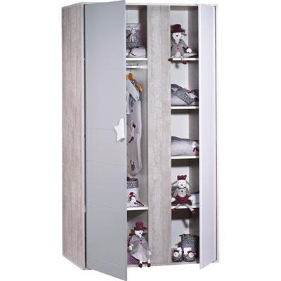 Chambre bébé duo nova lit + armoire Sauthon meubles