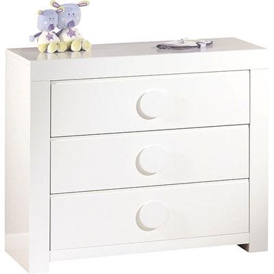 Chambre bébé duo zen bouton rond lit + commode Sauthon meubles