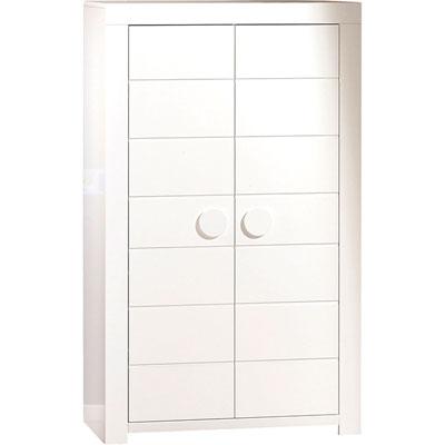 Chambre duo zen bouton rond lit + armoire Sauthon meubles