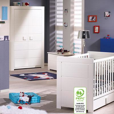 chambre b b duo zen bouton carr lit armoire 30 sur allob b. Black Bedroom Furniture Sets. Home Design Ideas