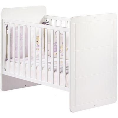 Chambre bébé duo zen bouton carré lit + armoire Sauthon meubles