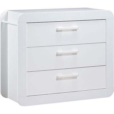 Chambre duo astride blanc lit et commode Sauthon meubles