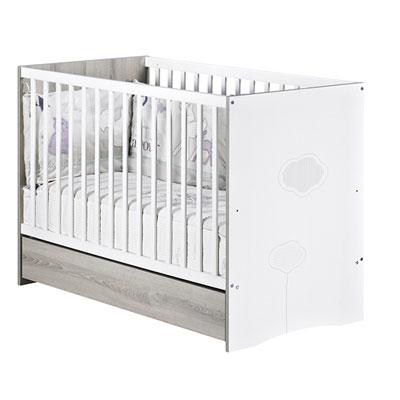 Chambre bébé trio nael lit + commode + armoire Sauthon meubles