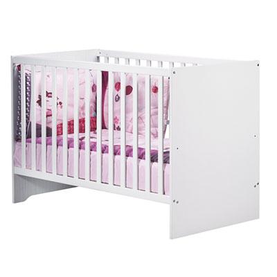 Chambre bébé trio pitchou lit + commode + armoire Sauthon meubles
