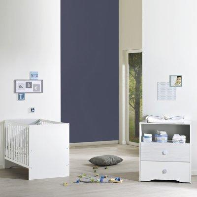 Chambre bébé duo pitchou lit + commode Sauthon meubles