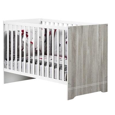 Chambre bébé trio loulou lit + commode + armoire Sauthon meubles