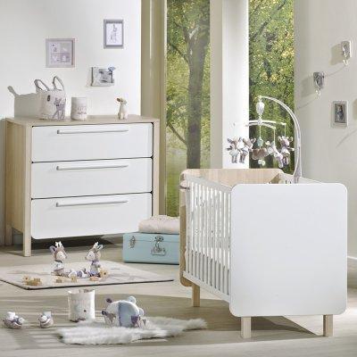 Chambre bébé duo nest lit + commode Sauthon meubles