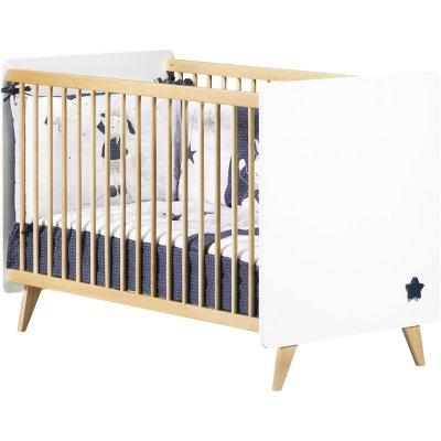 Chambre bébé trio lit + commode + armoire oslo bouton étoile Sauthon meubles