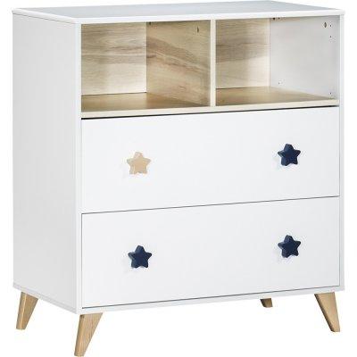 chambre b b duo lit commode oslo bouton toile de sauthon meubles sur allob b. Black Bedroom Furniture Sets. Home Design Ideas
