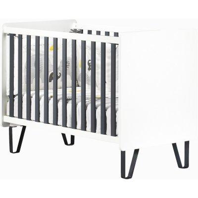 Chambre bébé trio lit + commode + armoire graphite Sauthon meubles