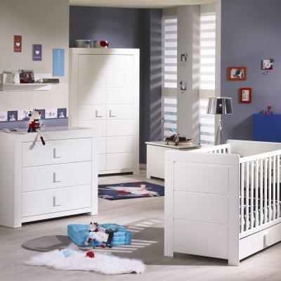 Chambre bébé trio zen bouton carré Sauthon meubles