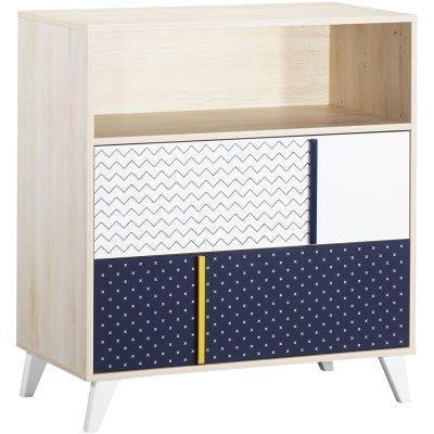 Commode bébé 1 niche 2 tiroirs hello Sauthon meubles