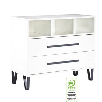Commode bébé graphite Sauthon meubles