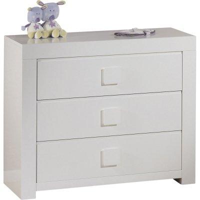 Commode 3 tiroirs zen blanc Sauthon meubles