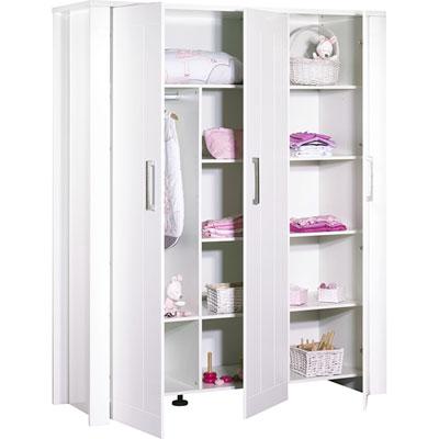 Armoire chambre bébé 3 portes deauville Sauthon meubles
