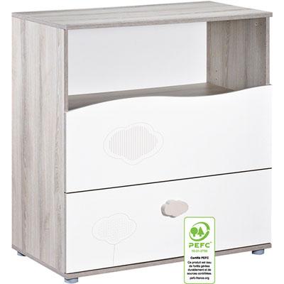 Commode 2 tiroirs 1 niche nael Sauthon meubles