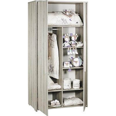 Armoire chambre bébé 2 portes xxl Sauthon meubles