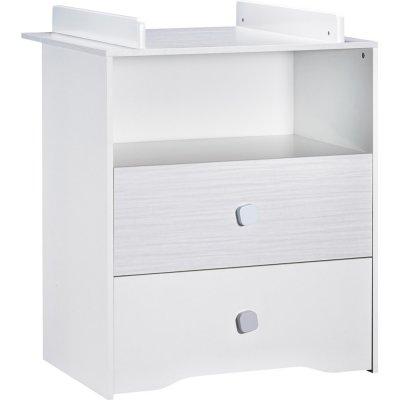 Commode bébé 2 tiroirs avec dispositif à langer inclus pitchou Sauthon meubles