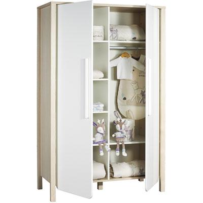 Armoire chambre bébé 2 portes nest Sauthon meubles