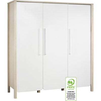Armoire chambre bébé 3 portes nest Sauthon meubles