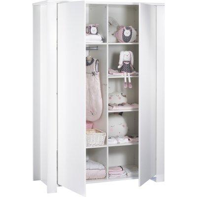 Armoire chambre bébé loft blanc Sauthon meubles
