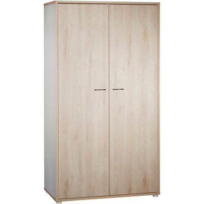 Armoire chambre bébé 2 portes vintage hêtre cendré Sauthon meubles