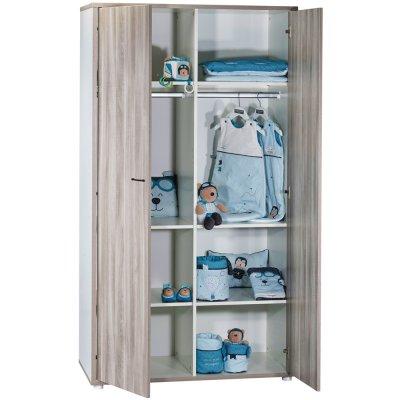 Armoire chambre bébé 2 portes vintage silex Sauthon meubles