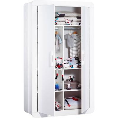 Armoire 2 portes astride blanc Sauthon meubles